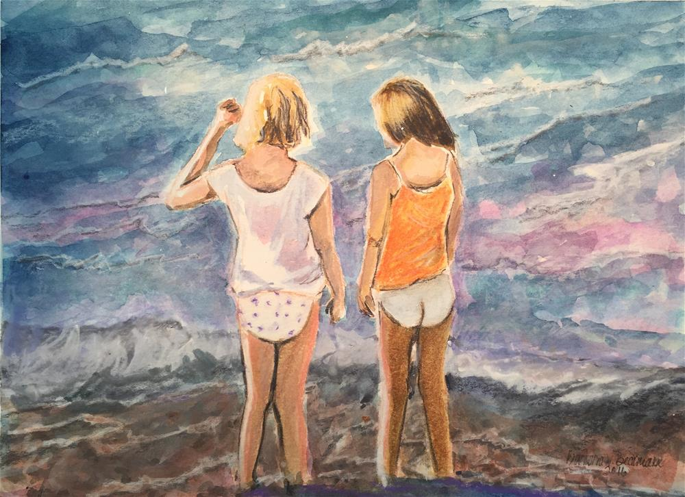 """Beach Gals"" original fine art by Barbara Beckmann"