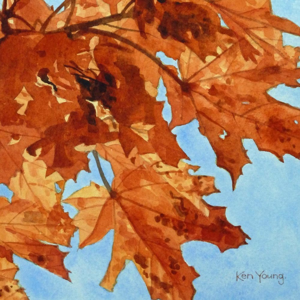 """October Leaves"" original fine art by Ken Young"