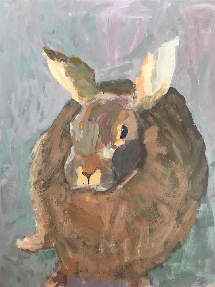 """Rabbit"" original fine art by Christine Parker"