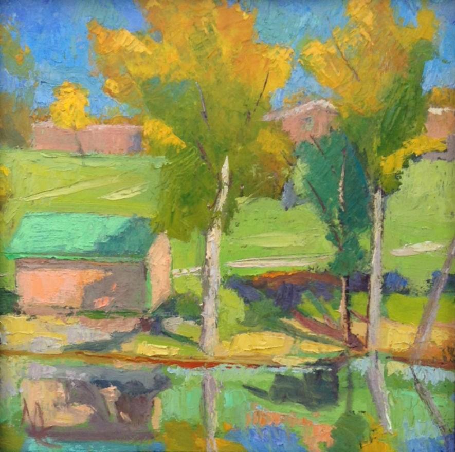 """ September Sunday"" original fine art by Michael McConnell"