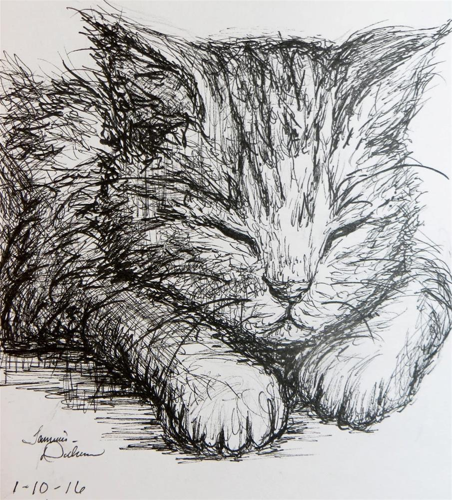 """Kitten Nap"" original fine art by Tammie Dickerson"