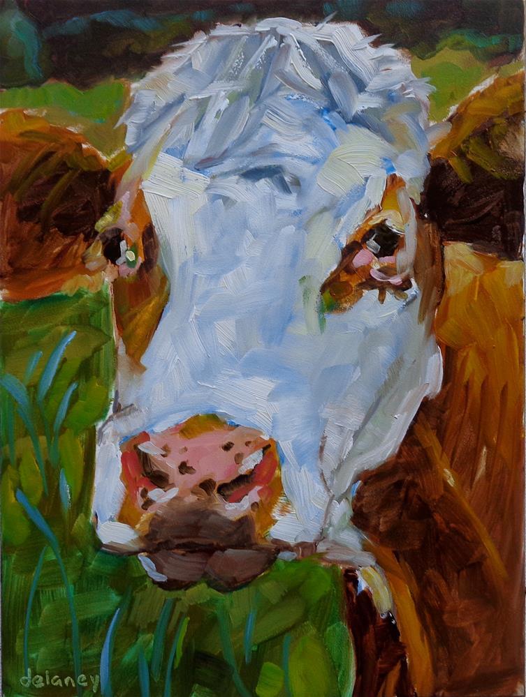 """Cow 126 SALLY MAY"" original fine art by Jean Delaney"