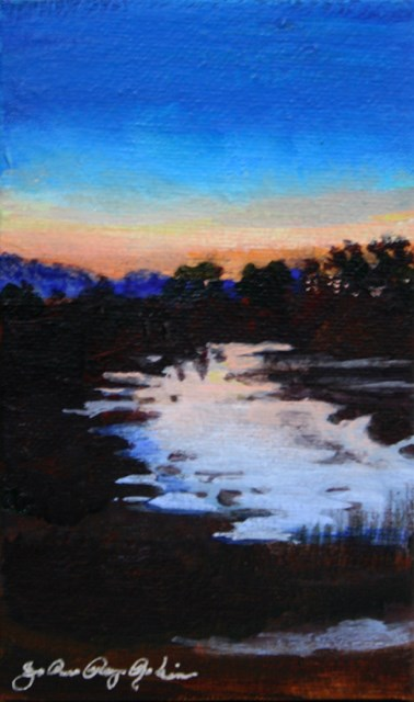 """Evening Shimmer"" original fine art by JoAnne Perez Robinson"