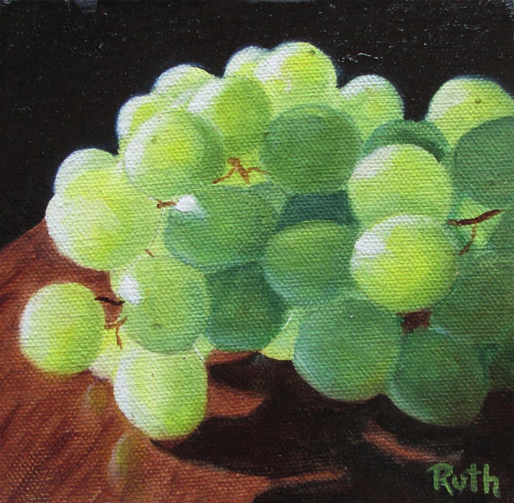 """""""Green Grapes"""" original fine art by Ruth Stewart"""