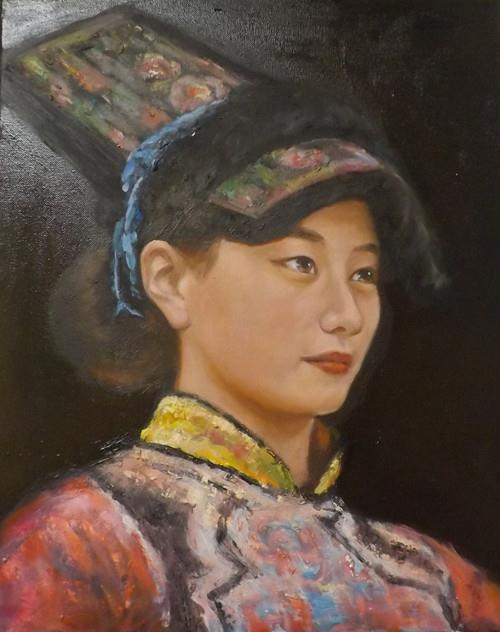 """LADY,M13"" original fine art by Run-      Zhang Zane"