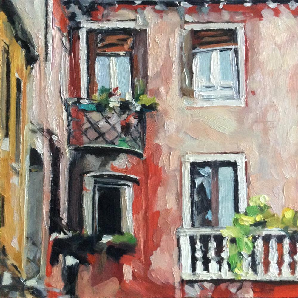 """Italian Villa"" original fine art by Paula Howson-Green"