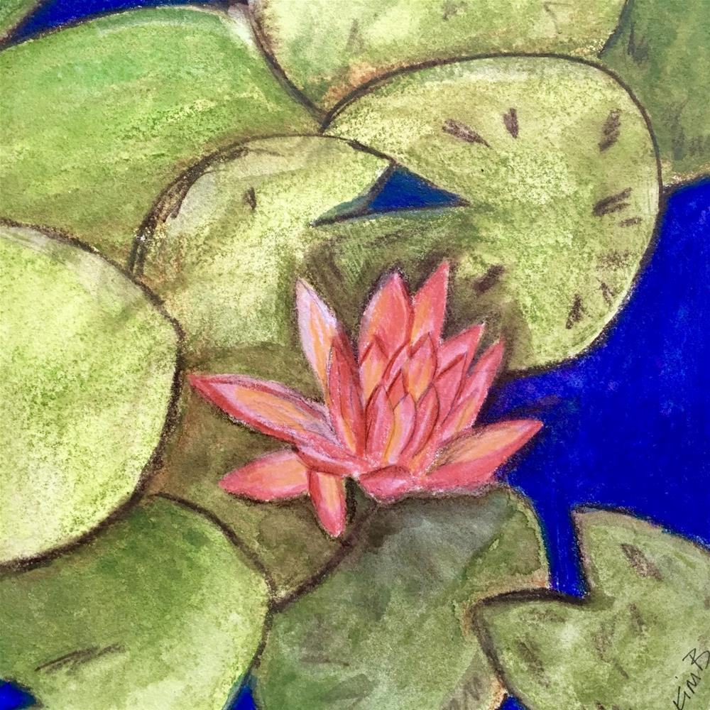 """The Lily Pad - Painting #7"" original fine art by Kimberly Balentine"