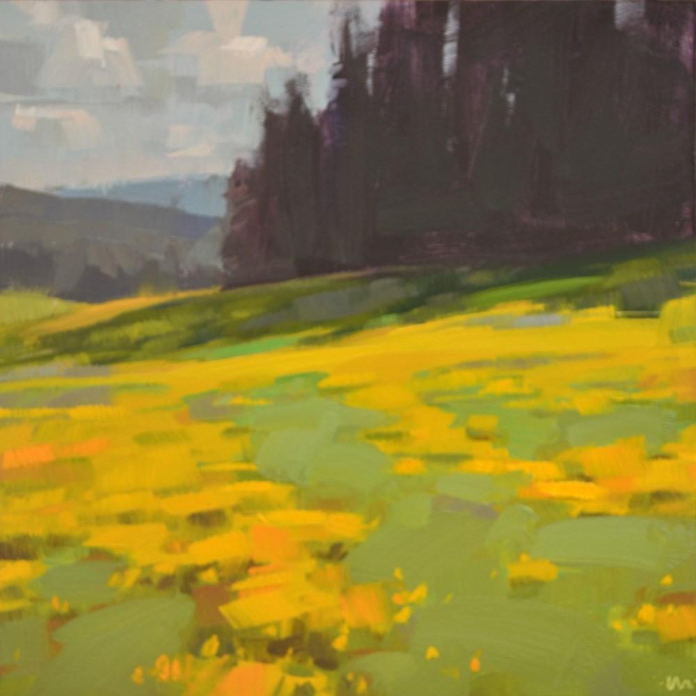 """Golden Field"" original fine art by Carol Marine"