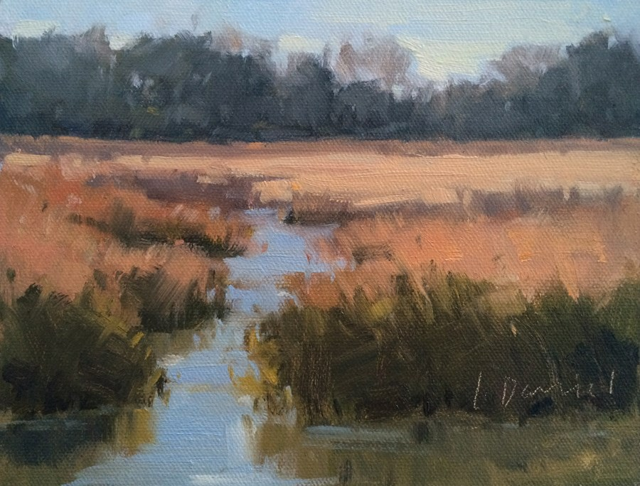 """Winter Marsh"" original fine art by Laurel Daniel"