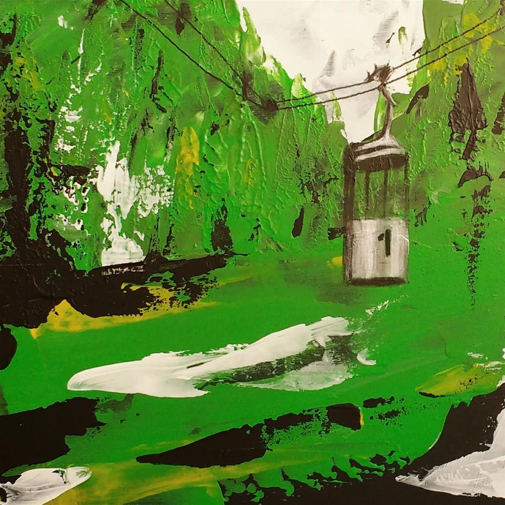 """""""Graseck Gondola"""" original fine art by Sandra Woerner"""