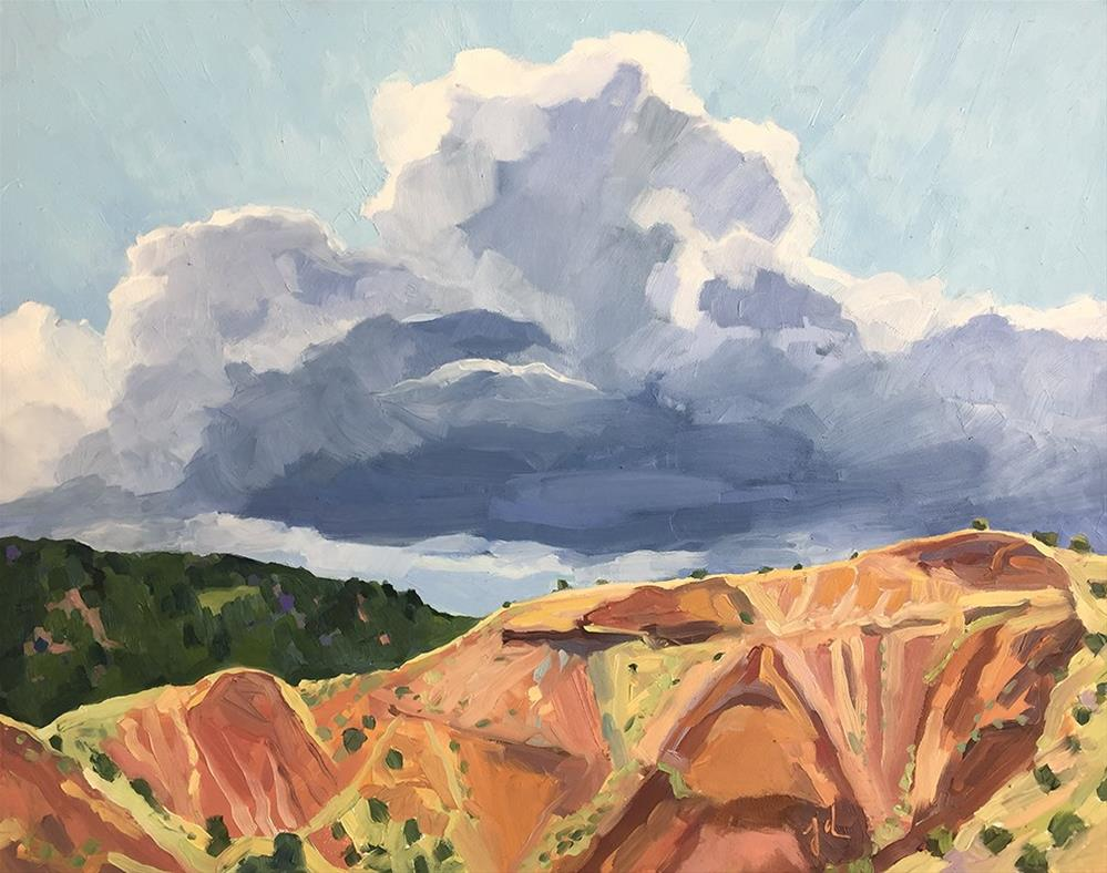 """Cloud and Cliffs"" original fine art by Jessie Dodington"