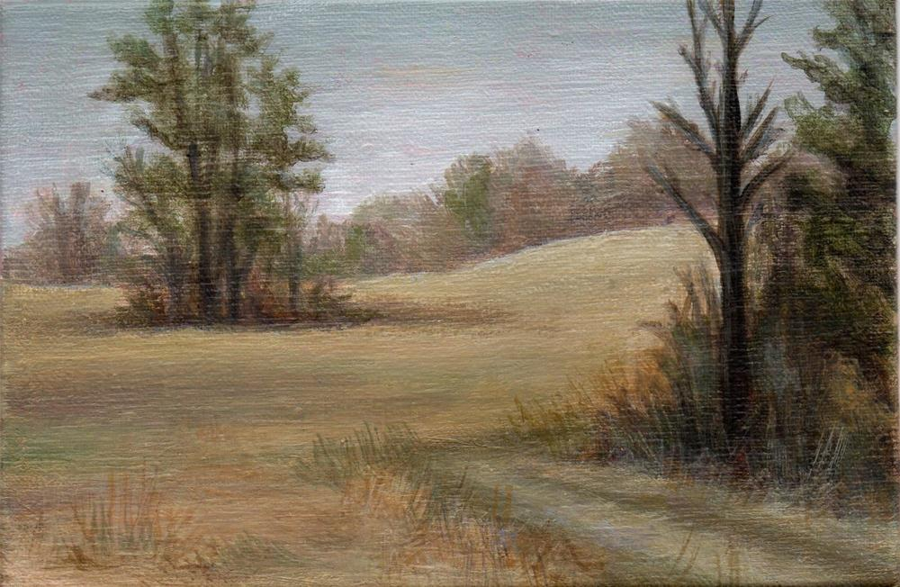 """Winter Field"" original fine art by Debbie Shirley"