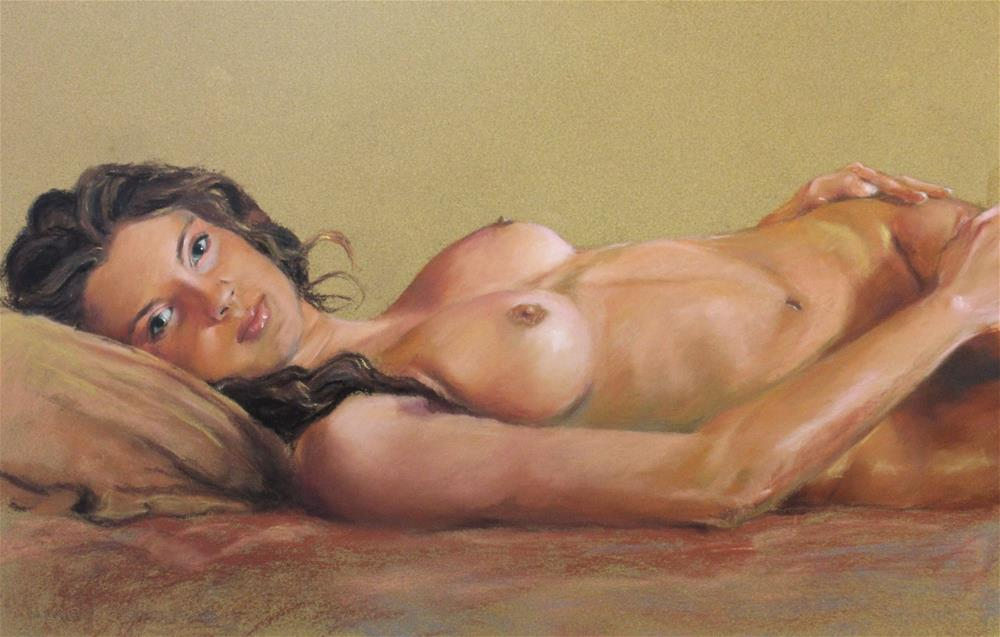 """Reclining nude"" original fine art by Marco Vazquez"