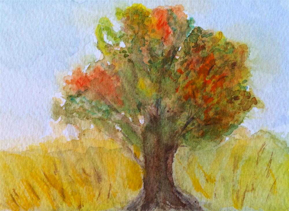 """Autumn"" original fine art by Susan Medyn"