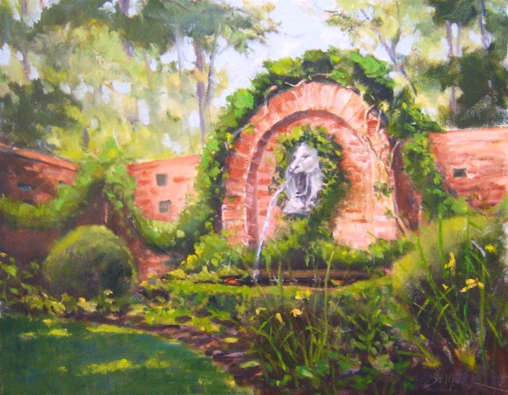 """Ann's Garden, Charlotte, NC"" original fine art by Connie Snipes"