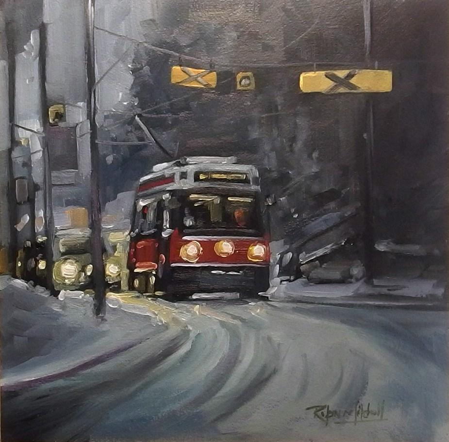 """""""No 834 King Streett"""" original fine art by Robin J Mitchell"""