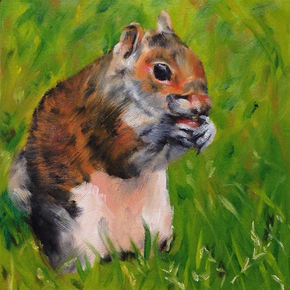 """Channeling Beatrix Potter"" original fine art by Linda Lowery"