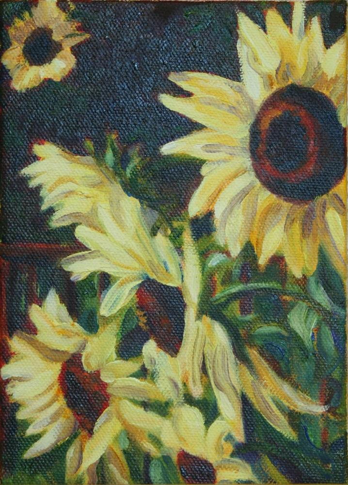 """Sunflowers #4"" original fine art by Karen Gehse"