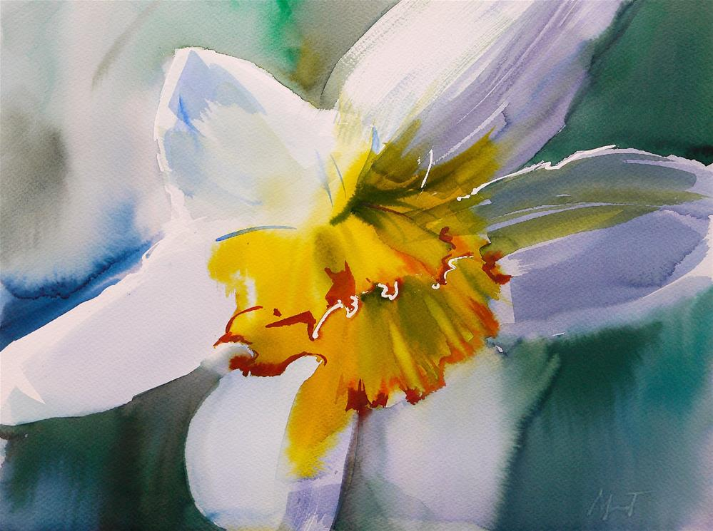 """finally spring"" original fine art by Beata Musial-Tomaszewska"