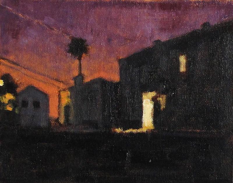 """""""San Diego Nocturne"""" original fine art by Kevin Inman"""
