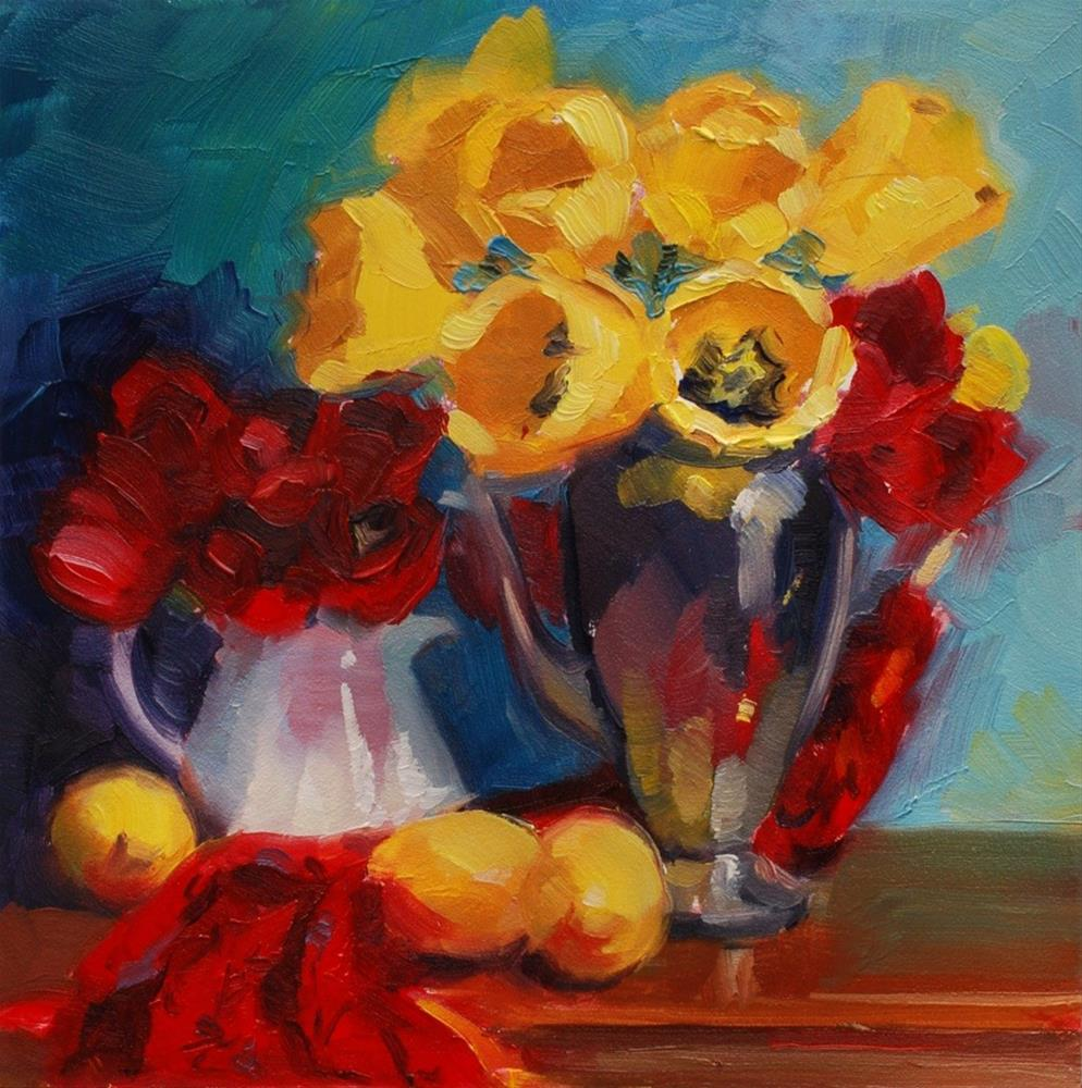 """No. 418 Primary Tulips"" original fine art by Susan McManamen"