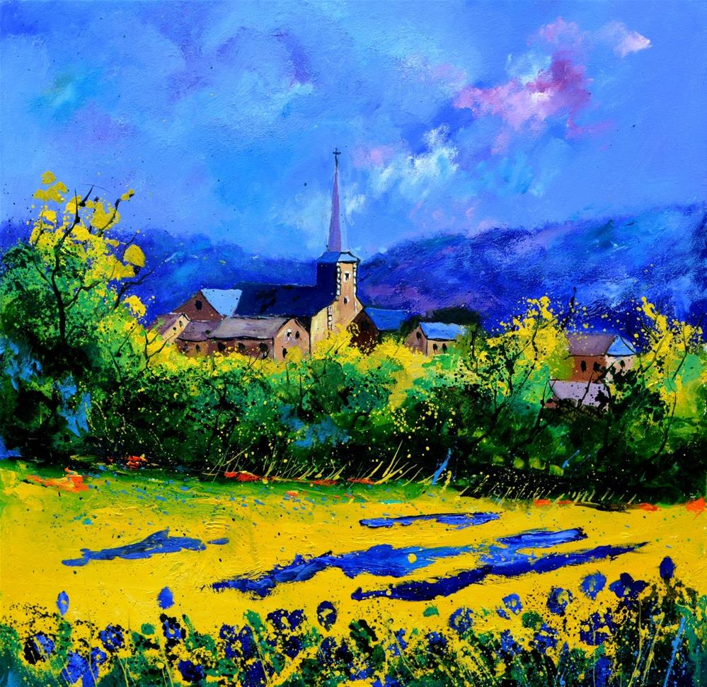 """Summer in Houroy"" original fine art by Pol Ledent"