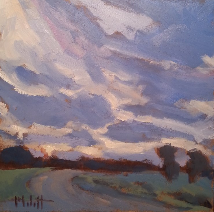 """Saturday Evening Sunset Driving Landscape Original Art Impressionism"" original fine art by Heidi Malott"