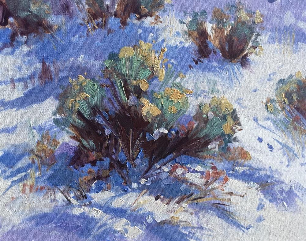 """Trampled Snow"" original fine art by Mary Jabens"