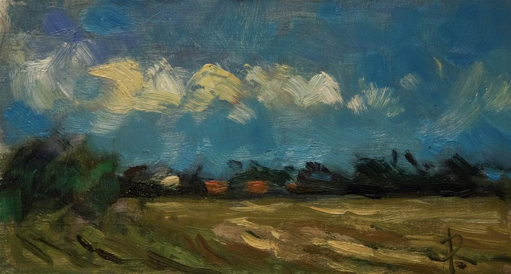 """Field at Climping"" original fine art by Andre Pallat"