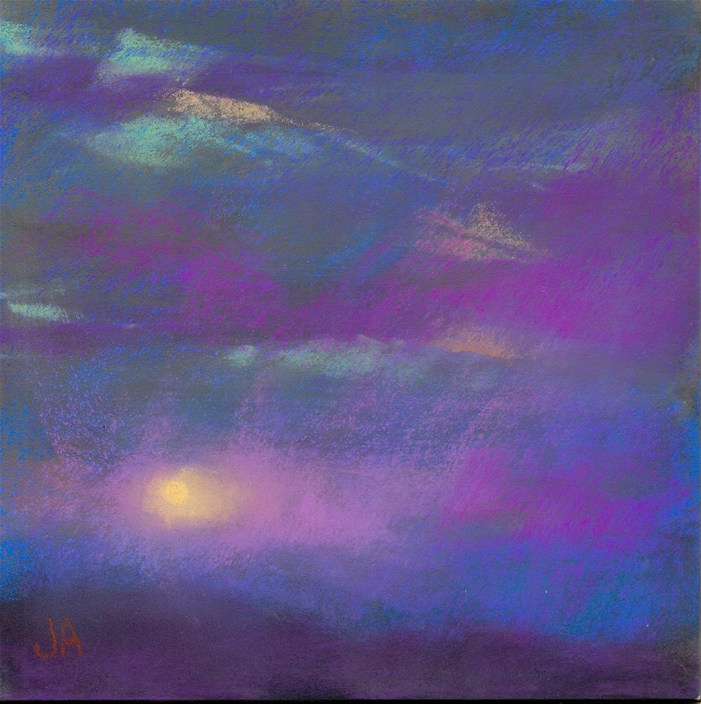 """Clair de Lune"" original fine art by Judy Albright"