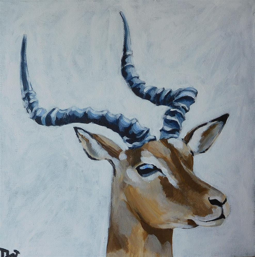 """A is for Antelope"" original fine art by Daryl West"