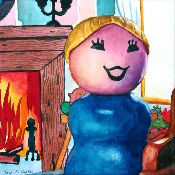 """Baby, It's Cold Outside"" original fine art by Kara K. Bigda"