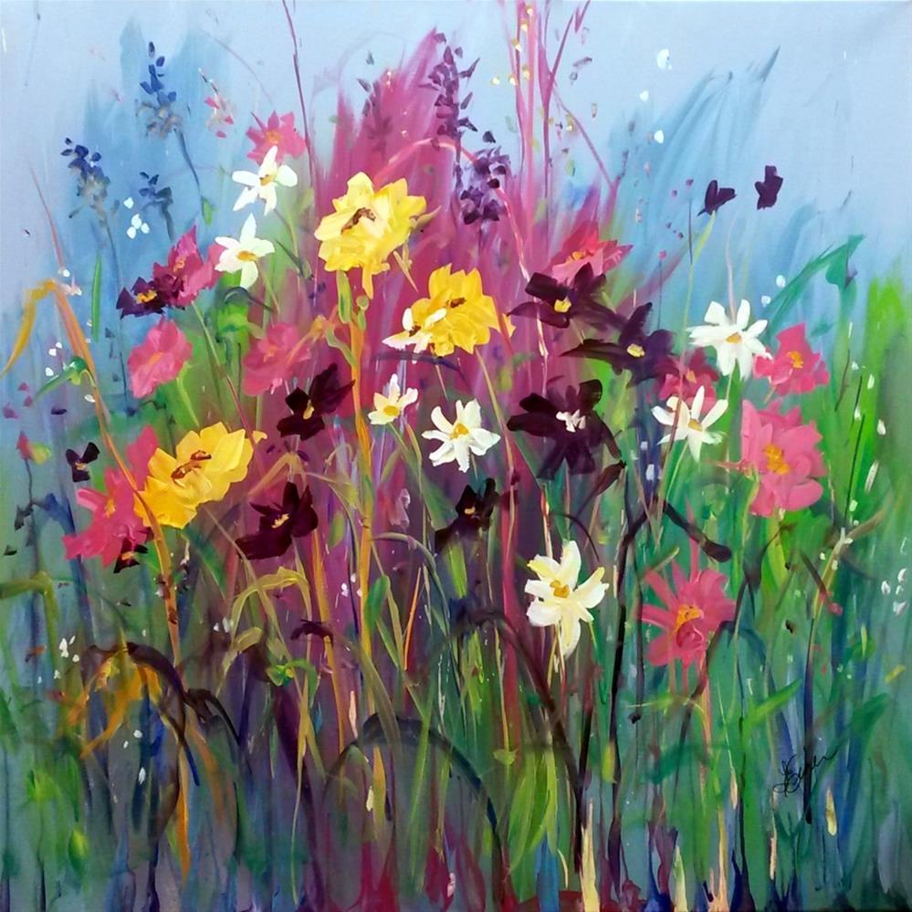 """""""Garden Party"""" original fine art by Terri Einer"""