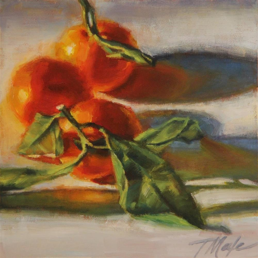 """Sunlit Satsumas"" original fine art by Tracy Male"