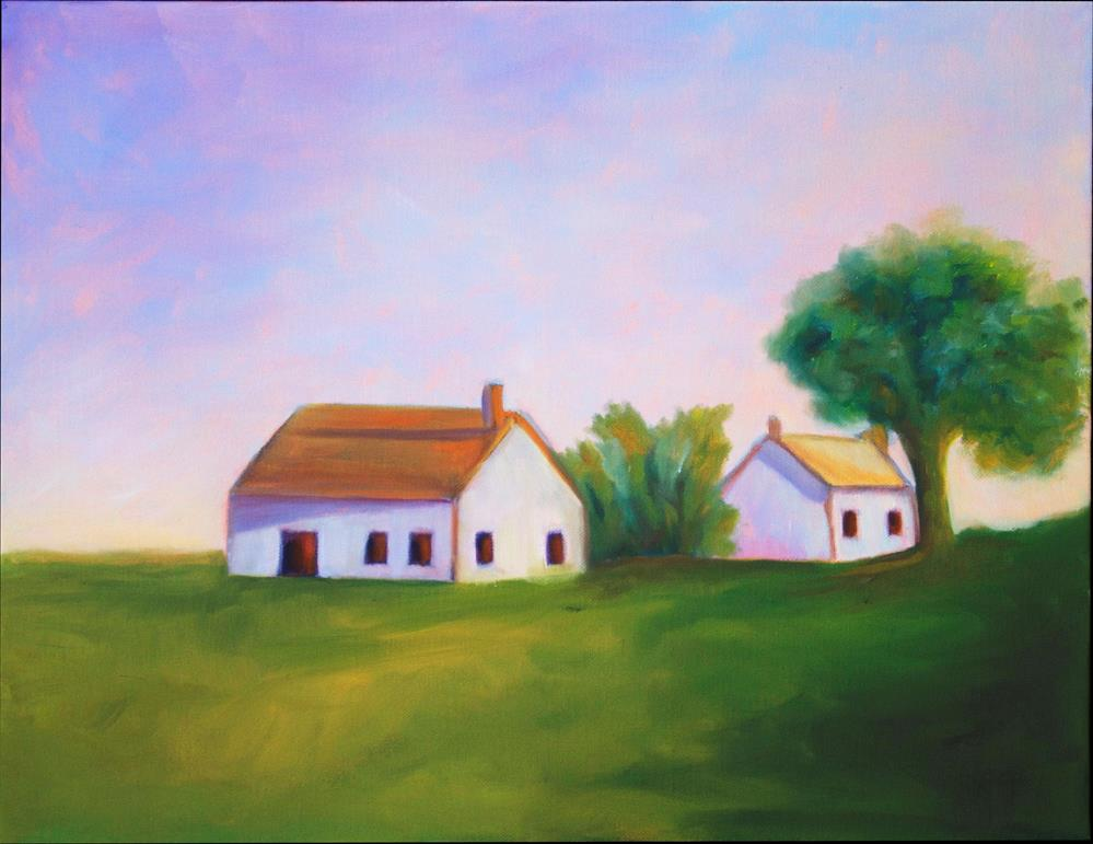 """Farmhouse"" original fine art by Susan Bertocci"