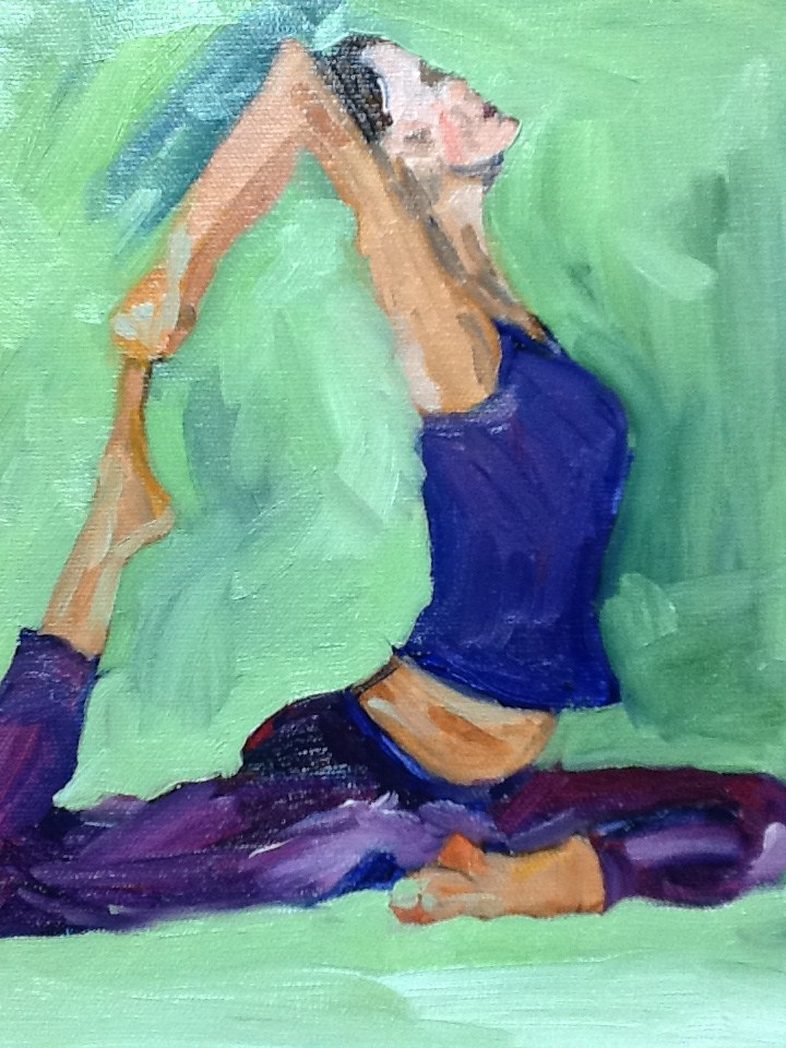 """Purple Rain"" original fine art by Peggy Schumm"