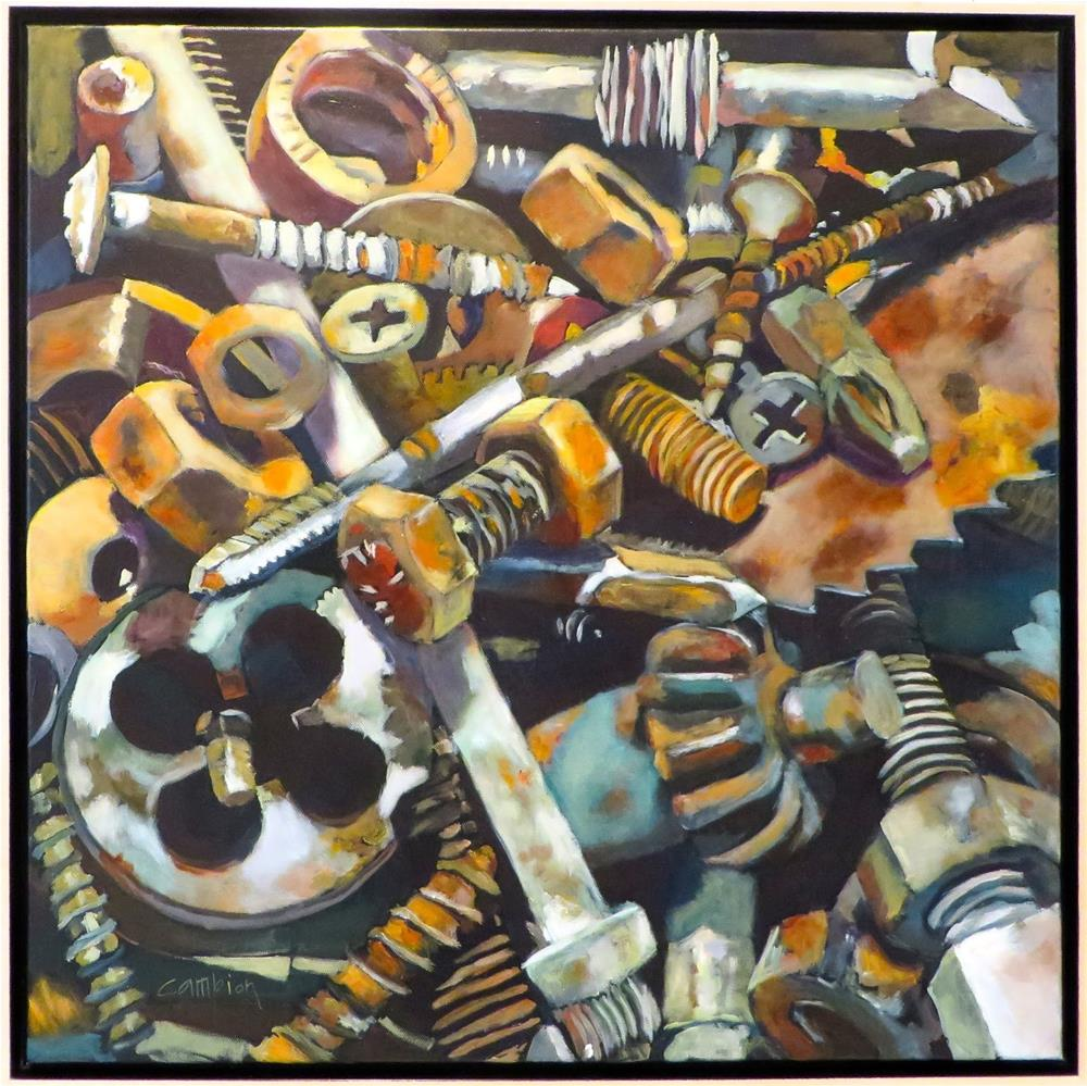 """Nuts and Bolts"" original fine art by Diane Campion"