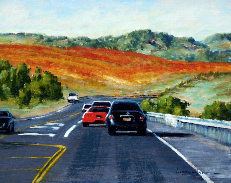 """SCENIC ROUTE"" original fine art by Dj Lanzendorfer"