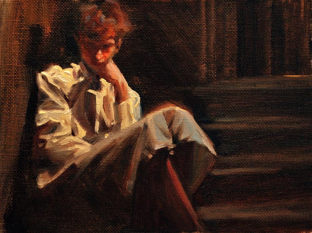 """The Derelict"" original fine art by Jim Himsworth"