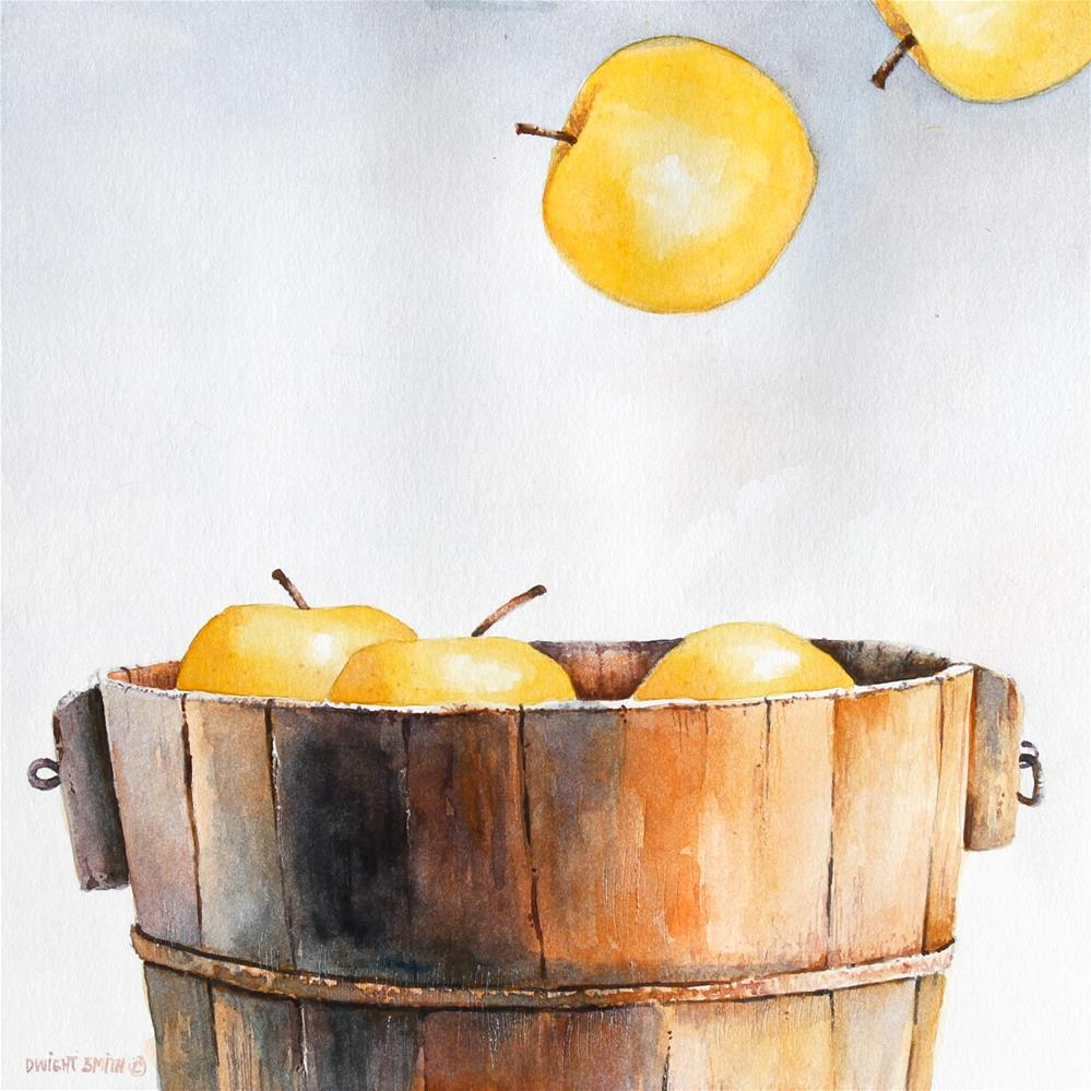 """ BOBBING FOR APPLES "" original fine art by Dwight Smith"