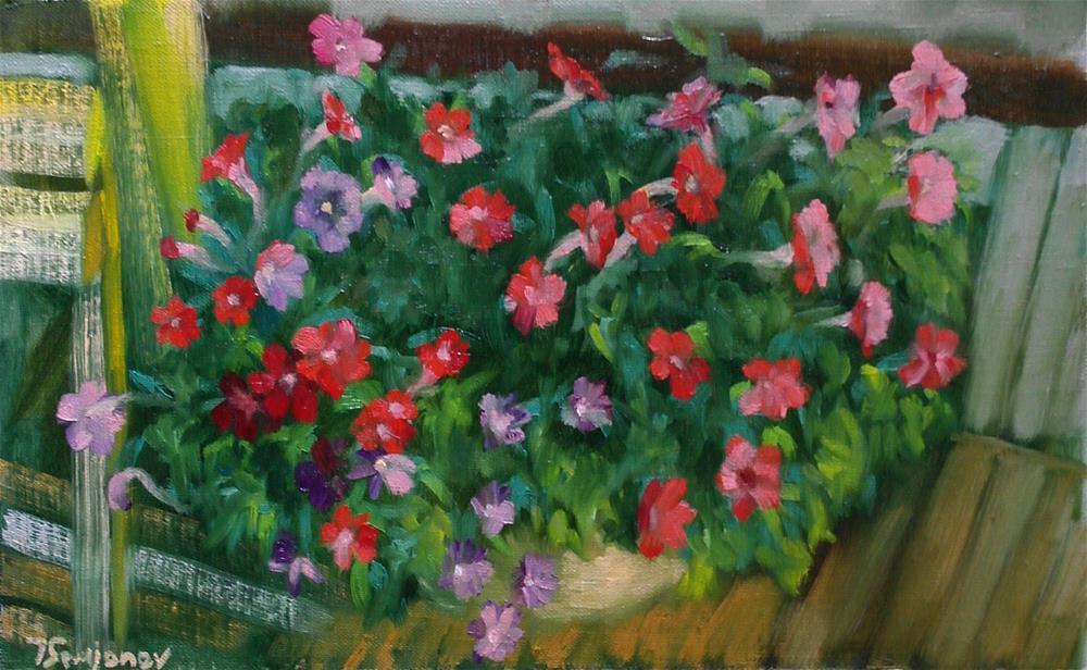 """petunia"" original fine art by Yuriy Semyonov"