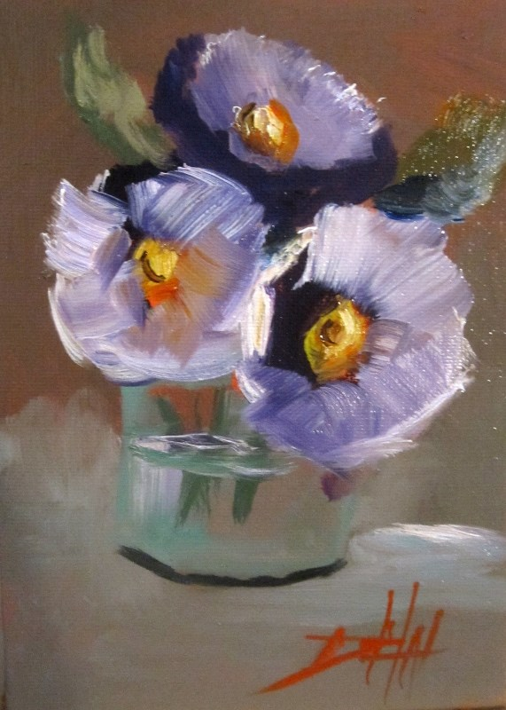 """Still Life with Flowers"" original fine art by Delilah Smith"