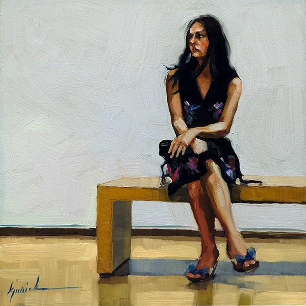"""Busy Waiting"" original fine art by Karin Jurick"