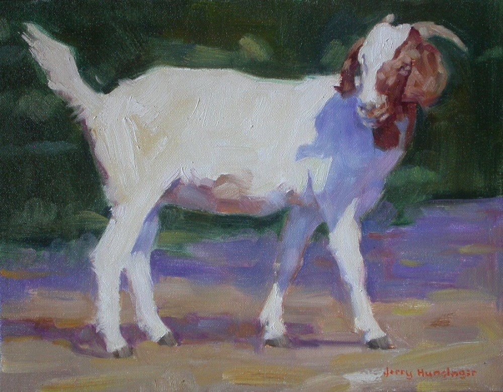 """A Goat With Grace"" original fine art by jerry hunsinger"