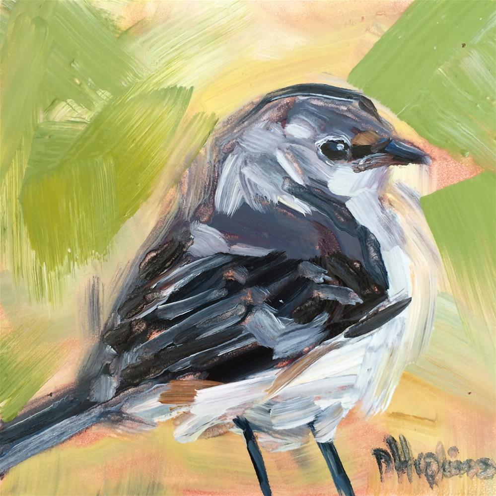 """mockingbird 2"" original fine art by Denise Hopkins"