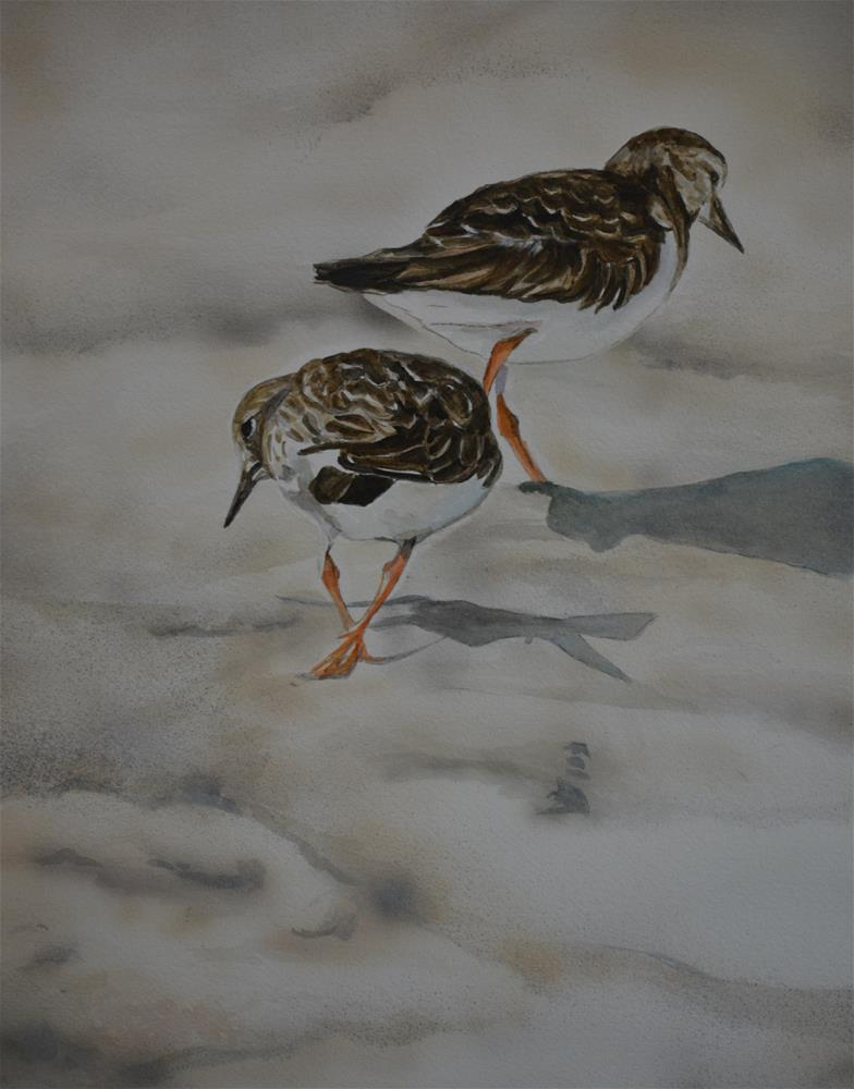 """Sand Pipers on the Beach"" original fine art by Charlotte Yealey"