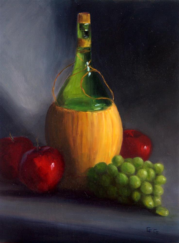 """Chianti & Fruit"" original fine art by G. G. Slockett"