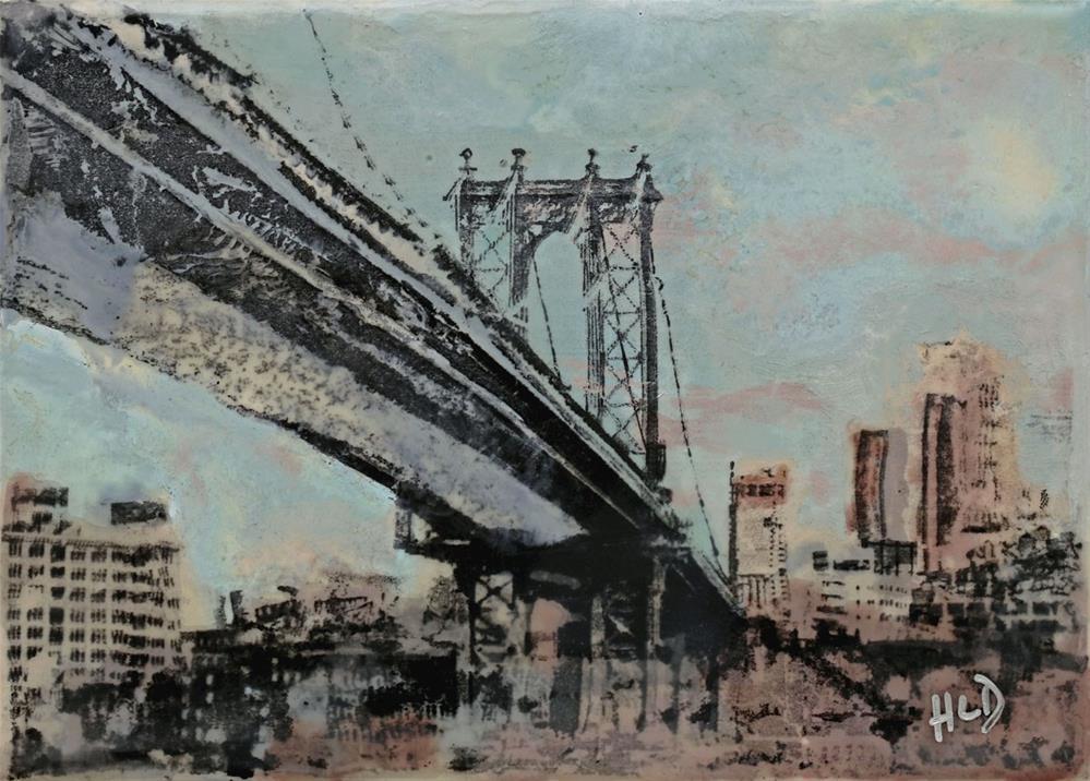 """Manhattan Bridge"" original fine art by Heather Douglas"