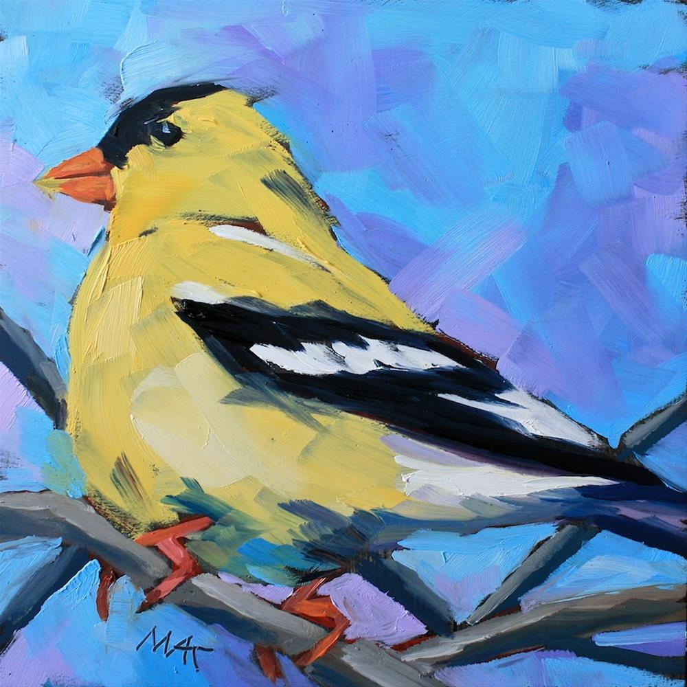 """Goldy"" original fine art by Mary Anne Cary"