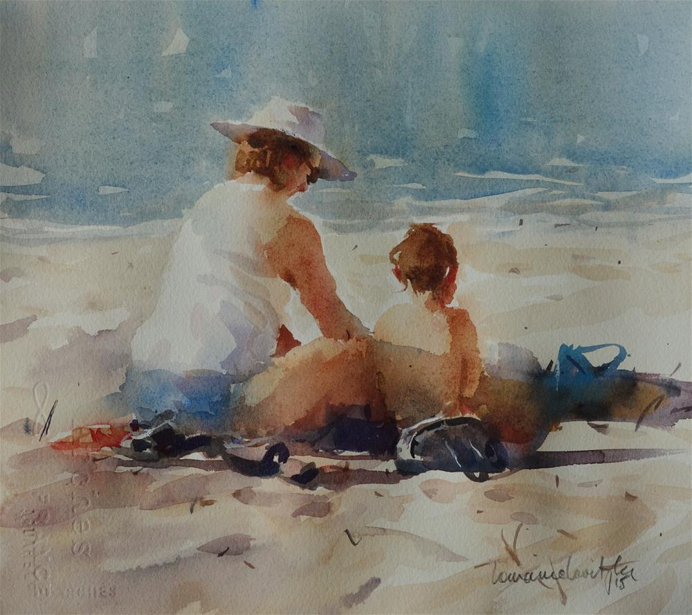 """Beach Day"" original fine art by Lorraine Lewitzka"
